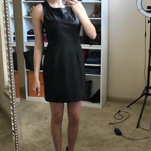 Faux Leather Black Dress
